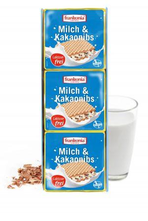 Frankonia Milch und Kakaonibs Waffelschnitten laktosefrei